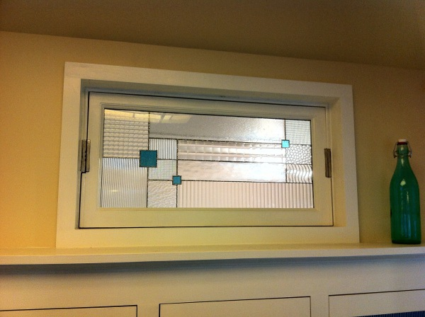 Custom Art Glass Interior Window
